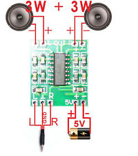 Mini Digital Amplificador de Audio 2,5V - 5V 3W+3W AMP Module 5V USB PAM8403