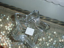 Libbey Glass Collectible Star Shaped Glass Bowl Nut/Candy Dish