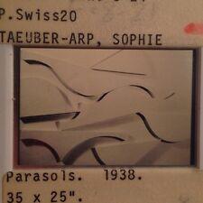 """Sophie Taeuber-Arp """"parasols 1938"""" 35mm Swiss Dada ConstructivIsm Art Slide"""