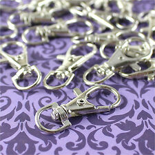 """100 Swivel Lobster Clasps - 1.5"""" - Silver Color - Keychains Lanyards Connector"""
