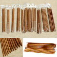 "5"" 11 Sizes Double Pointed Carbonized Bamboo Knitting Needles Crochet 13cm"