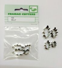 Cake Decorating Metal 50S Holly - Small Set by Framar Cutters