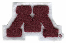 "MINNESOTA GOLDEN GOPHERS NCAA COLLEGE 3"" CHENILLE LETTER M TEAM LOGO PATCH"