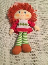 "Vintage 1981 Kenner Strawberry Shortcake 16"" Cloth Rag Doll Ragdoll Plush"