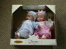 Cititoy Twin NIB Collectible Dolls Certificate of Authenticity Blue Pink Vintage