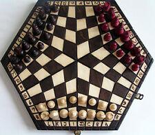 échec, Jeu d'échecs pour Trois, échiquier 32 x 28 cm, Bois