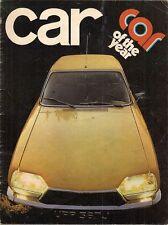 Citroen gs 1015 voiture de l'année 1971 marché du royaume-uni essai routier brochure voiture