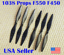 DJI Flamewheel F550 F450 Carbon Fiber Propeller 6pk Balanced Jello Fix Phantom
