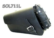 LEATHER Motorcycle Solo Bag left side bag for Harley Davidson Sportster models