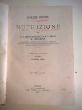 ANOMALIE GENERALI DI NUTRIZIONE - F.V. BIRCH.HIRSCHFELD / H.SENATOR - 1880