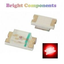10 x 0402 Red LED (SMD) - Ultra Bright - UK - 1st CLASS POST