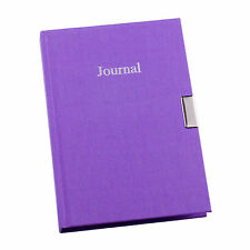 Purple Fabric Cover Any Year Undated 3 Year Lockable Girls Diary Journal EL-33