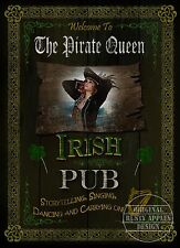 THE  IRISH PIRATE QUEEN   PUB SIGN VINTAGE STYLE METAL SIGN GREAT GIFT
