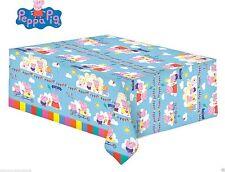 PEPPA PIG Tavolo Copertura Carnevale Festa di Compleanno per Bambini-Peppa & George 138cm x 183 cm