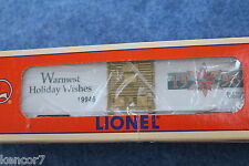 1996 Lionel 6-19946 Christmas Box Car Warmest Holiday Wishes L2666
