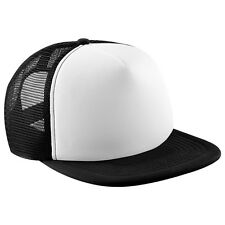 Half Mesh Contrast Retro Rapper Cap Flat Peak Snapback Men and Women Printed Hat