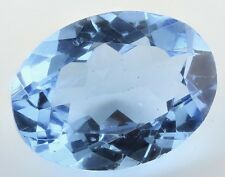 Grande 16x12mm Oval-faceta suizo-Piedras Preciosas topacio azul natural brasileño (App £ 295)