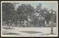 Postcard KENDALLVILLE Indiana/IN Mitchell & Orchard St Family Houses/Homes 1910s