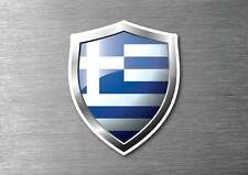 Greece flag shield sticker 3d effect quality 7 year water & fade proof