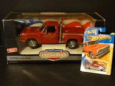 Ertl American Muscle 1978 Dodge Lil Red Express Pickup 1:18 & 1:64 Diecast Truck