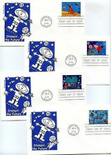 3414-17 Stampin' the Future four Artmaster  FDCs