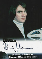 Space 1999 Autograph Trading Card BJ Brian Johnson - Special Effects Director