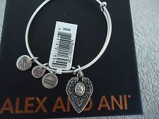 Alex and Ani GUARDIAN ANGEL Rafaelian Silver Finish Bangle New W/Tag Card & Box