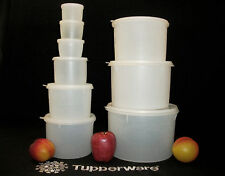 Tupperware 9 sizes vtg SHEER Canisters ~Stack ~Nest ~4 oz to 20 cups