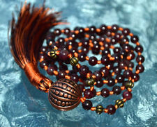 Root Chakra 108 Garnet Mala bead Necklace Grounding, Stability, Physical need, A