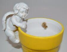 Cherub Angel Fairy Hangers Huggers Shelf Sitter Flower Pot Statue Garden #10