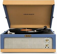 Crosley Dansette Portable Junior Turntable with Aux-In Blue Tan CR6234A-BT NEW