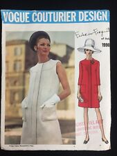 Vintage Vogue Couturier Pattern Federico Forquet Italy 1990 Day Dress Uncut 8
