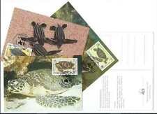 Anguilla 1983. WWF Maximum Cards x 4. Endangered Species - Turtles (435)