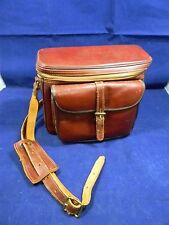 Vintage Diamond The Gadg-It Camera Bag Brown Genuine Leather C906