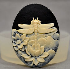 DRAGONFLY Cameo - silicone mould - food use, resin, fimo, plaster, wax - mold