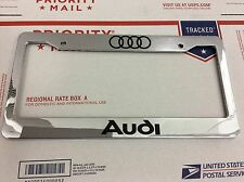 Custom Chrome Audi  Personalized  License Plate Frame tag holder  L@@K L@@K