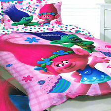 Trolls - Best Troll Friends - Double/US Full Bed Quilt Doona Duvet Cover set