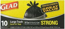 Glad Quick-Tie Trash Bags, Large, 10 Ct (Pack of 6)