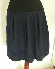 OASIS BNWT NAVY BLUE & BLACK AZTEC TRIBAL PRINT SKIRT SIZE 12 STRUCTURED SKATER
