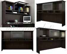 L Shaped Computer Desk Corner Hutch Office Furniture Wood Home Table Workstation