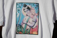 retro art vintage mens cotton t shirt ,S,M,L,XL ,RAMA & HANUMAN