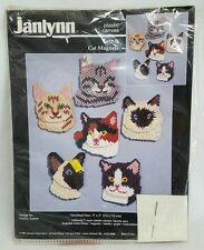 1997 Janlynn needlework cross stitch cat magnets NIP crafts arts kits