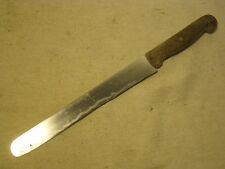 vintage bufalo Rostrei Special kitchen cutlery knife wood handle slicer bread