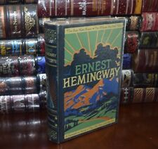 FOUR NOVELS OLD MAN AND SEA by E. HEMINGWAY LEATHER BOUND Sealed Collectible