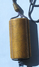 19th Century Japanese Gold Lacquer Inro Signed Kajikawa