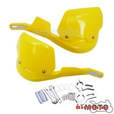 Yellow 22mm Motorcycle Brush Bar Handguard Heightening Hand Guards For Scooter