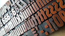 Letterpress font,Berthold Plakadur printing blocks,letters numbers,type,acrylic