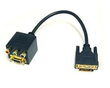 Bytecc BTA-032 VGA Female with Nuts and 3 RCA Female to DVI-I Male Adapter