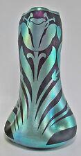 Antique KRALIK Iridescent Cameo Art Glass Vase ca.1900-1910 Loetz Era Rare Decor