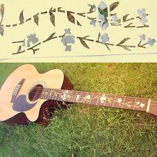 Bass Guitar Inlay Sticker Fretboard Marker Flowers Grass and Hummingbird Decal